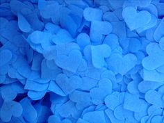 New dusty blue confetti for 2017. Biodegradable, compostable, bleed resistant and acid-free.