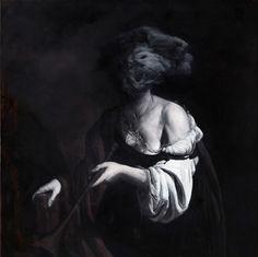 Nicola Samori, La Soria,2009, olio su rame, 100 x 100 cm