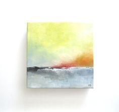 Long Days Abstract Landscape Painting Original by HopeBurgoyne