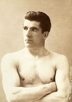 Boxer James J Corbett (1866-1933), 1894. Photo- Elmer Chickering