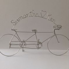 TANDEM LOVE: Personalized Tandem Bike Wedding by HeatherBoydWire