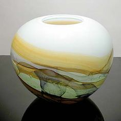 Robert Held | The pure clean lines of Robert Held's work speak for themselves. They are from the hand of someone with great experience, and a superior talent for bring color and form together in glass. This big piece is wonderfully translucent.