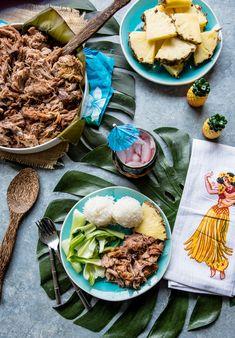 Hawaiian Style Slow Cooker Kalua Pork - Pineapple and Coconut Kaluha Pork, Pork Recipes, Crockpot Recipes, Easy Recipes, Beach Theme Food, Slow Carb Diet, Slow Cooker Pork, Appetizer Recipes, Dinner Recipes
