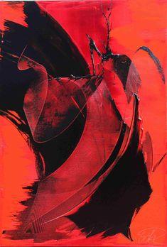 Abstract Geometric Art, Abstract Oil, Red Art, Black Art, Art Rouge, Tableau Design, Marble Art, Oeuvre D'art, Art Inspo