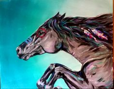 Native American/ Indian Art/ War Horse/ Warrior/ Original Painting - Jyner Dickerson, jyner@aol.com