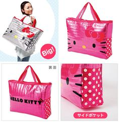 Hello Kitty Bags In Silver And Pink