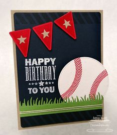 Baseball Birthday Greetings by rohla - Cards and Paper Crafts at Splitcoaststampers