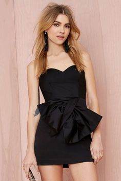 Nasty Gal Bow Limits Strapless Dress   Shop Dresses at Nasty Gal