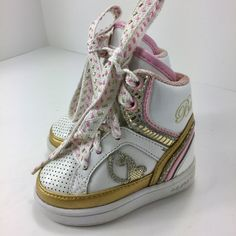 22306418bb2 Baby Phat Shoes | Baby Phat Infants High Top Sneakers Size 3 | Color:  Pink/White | Size: 3bb