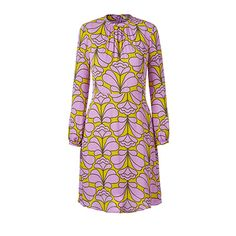 Orla Kiely   USA   clothing   SALE - Dresses   Damask Flower Flared Dress (16SWDMF742)   lilac