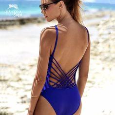 a20a175e97 Fantastic Electric Blue Monokini ⛱ Classy & Design 👑 Corsica One Piece  Swimsuit 💋 Riviera Coco Beach Trends