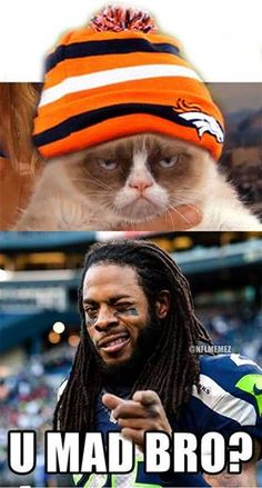 NFL Memes, Seattle Seahawks and the Broncos. Who can forget?