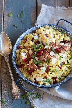 Granaatappel kip met parel couscous | simoneskitchen.nl