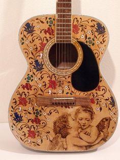 The 7 Best Wood Burning Guitars Images On Pinterest