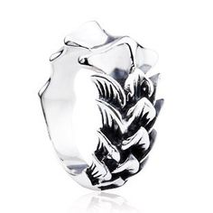 925 Sterling Silver Gothic Dragon Scales Antique Ring Gift for Men