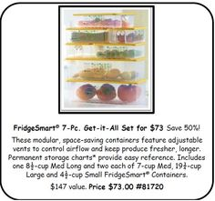 Sale starts April 28th! Great product to help keep your @Bountiful  Baskets produce fresher, longer!