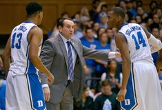 Matt Jones, Coach K and Rasheed Sulaimon