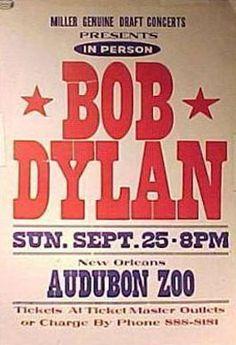 11 -09 25 1988 - Bob Dylan Concert Poster