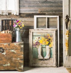 Add a pop of color with faux flowers to wash those April-shower blues away!