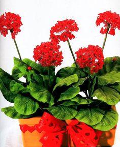 Beaded Flower TUTORIAL Geranium