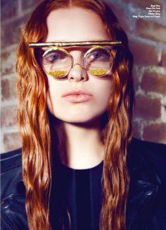 BJØRG PURE gold glasses in KALTBLUT magazine