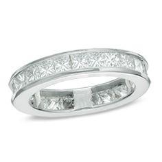Ladies' 2 CT. T.W. Princess-Cut Diamond Eternity Channel Set Wedding Band in 14K White Gold