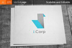 Letter J Company Logo by Krukowski Graphics on @creativemarket