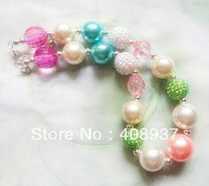 Free shipping!2PCS/Lot Charming kid/child bubblegum bead DIY chunky necklace bulk price for Girls jewelry! $11.00