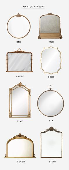 Mantle Mirror Round