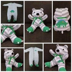 baby onesie outfit turned into a memory bear