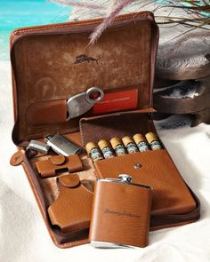 If I smoked Cigars, I would want this! Weekend Leather Cigar Case I don't smoke cigars and I still want this Good Cigars, Cigars And Whiskey, Scotch Whiskey, Leather Cigar Case, Cigar Accessories, Travel Accessories, Fashion Accessories, Cigar Cases, Pipes And Cigars
