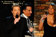 Mariah Carey Photos - Host Eddie Izzard and presenters Andy Garcia and Mariah Carey onstage during the 25th Film Independent's Spirit Awards held at Nokia Event Deck at L.A. Live on March 5, 2010 in Los Angeles, California. - 25th Film Independent Spirit Awards - Show