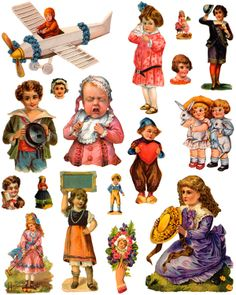 Victorian Children Die Cuts