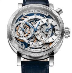 The Grieb & Benzinger Blue Sensation undertook the skeletonization, guilloche, technical modification and other features with a lot of passion holy crap muffins!