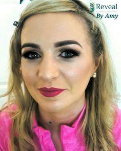 #makeup #pinklips #strobing #brows  #makeuplooks By Amy at Reveal Makeup Studios