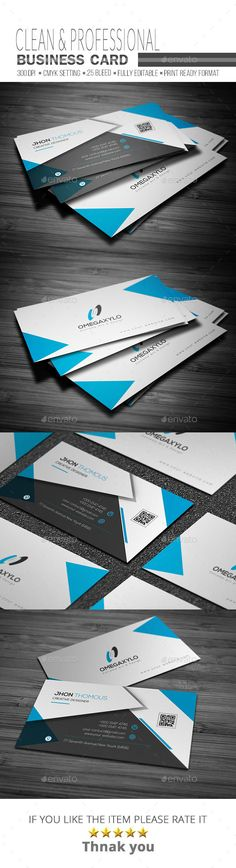 #Corporate Business Card - Corporate #Business #Cards Download here: https://graphicriver.net/item/corporate-business-card/18394303?ref=alena994