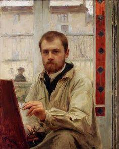"""Self Portrait,"" Emile Friant (1863 - 1932)"