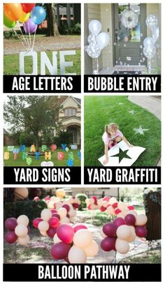 FUN birthday party decoration ideas for your yard! #birthdayyarddecorations #birthdaydecor Birthday Balloons, Birthday Parties, Birthday Balloon Surprise, Special Birthday, Outside Birthday Decorations, Yard Decorations, Diy Birthday Sign, 40th Birthday, Birthday Ideas