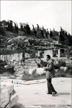 Albert Camus in Elefsina Albert Camus, Aix En Provence, Greek Town, Ancient Beauty, Archaeological Site, Science Art, National Geographic, Philosophy, Greece
