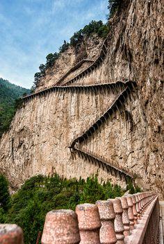 Stairway to Heaven, Mianshan Mountains, Shanxi Providence, China