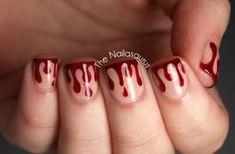 Halloween-Crafts ideas-Blood drip Nails
