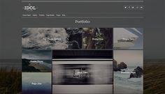 Creative WordPress Portfolio Theme with Style - Idol - #portfolio #wordpress #themes #webdesign #inspiration - www.designolymp.com