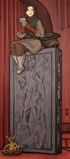 Princess Leia stars in another Haunted Mansion portrait by Karen Hallion