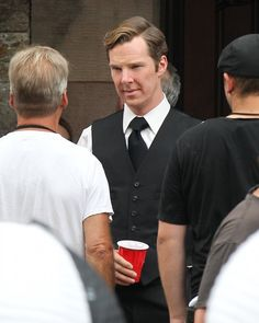 July 1, 2014 ~ Benedict Cumberbatch on the set filming BLACK MASS [Click for photo gallery]