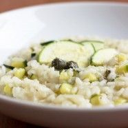 Risotto with zuchini, lemon adn capers (and great for when my gf comes over)