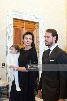 Prince Felix of Luxembourg, Princess Claire of Luxembourg and their daughter Princess Amalia Gabriela Maria Teresa arrive at the Apostolic Palace for a meeting with Pope Francis on March 21, 2016 in Vatican City, Vatican. During the audience the Royal Family of Luxembourg gave the Holy Father a family portrait, with the Spanish-language dedication, 'To our Pope Francis, with the respectful and filial affection our whole family.' Pope Francis gave the family a medal of the pontificate and…