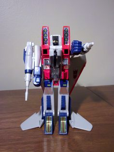 Starscream. Another Transformer I bought myself on vacation in 1985. I was supposed to be saving money to spend on souvenirs. I call it Georgia Starscream!