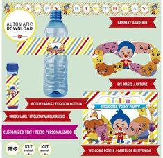 Plim plim kit imprimible de Payaso plim plim 21 PIEZAS. image 6 I Party, Party Ideas, Welcome Poster, Bottle Labels, Birthday Parties, Bubbles, Banner, Etsy, Deco