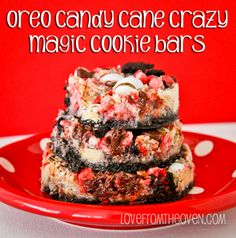 Candy Cane Crazy Oreo Magic Cookie Bars