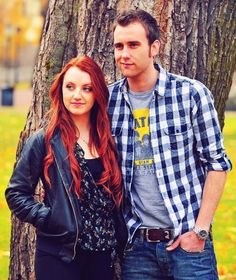 Matthew Lewis and Evanna Lynch--who are the weirdos now huh? :D